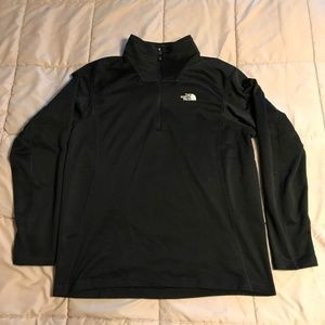 The North Face Black 1/4 Zip Fleece, Size Large
